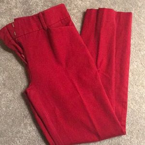 New York & Company Red Dress Pants Crop